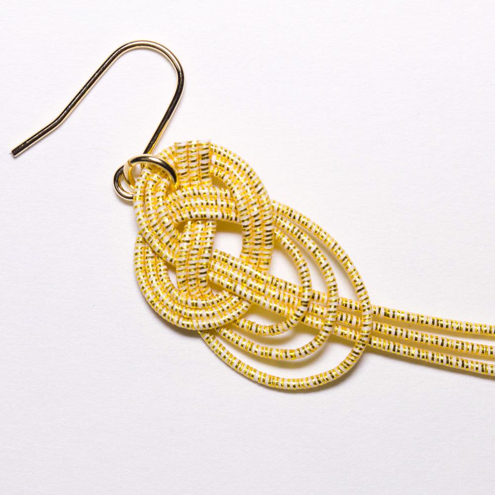 Jiyu-Kajin Pierced earrings - Plume