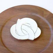 むすび小皿 プラチナ線