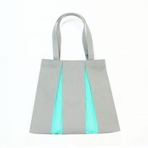 KOSHO トートバッグMH  ライトグレー×エメラルドグリーン