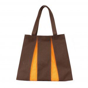 KOSHO トートバッグMH 焦茶×橙色