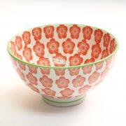 美濃焼和文様茶碗 梅