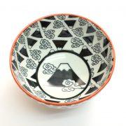 美濃焼和文様茶碗 富士山