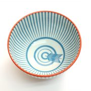 美濃焼和文様茶碗 矢羽