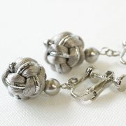 Tsubomi Metallic Earrings シルバー