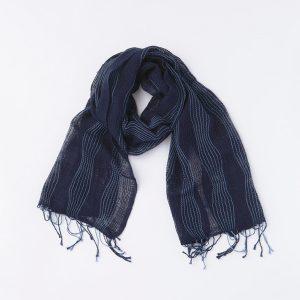 工房織座 kobooriza 綿のゆらぎ -インディゴ-