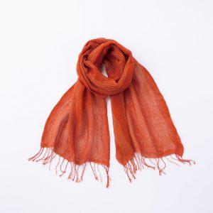 工房織座 kobooriza 綿のゆらぎ -オレンジ-