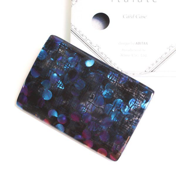 キッソオ italate カードケース ホログラムブルー