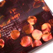 キッソオ italate カードケース ホログラムボルドー3